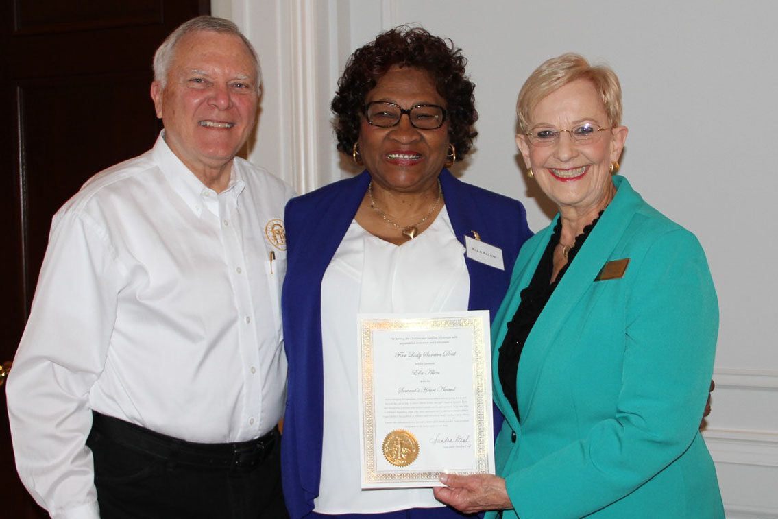 Governor Nathan Deal and First Lady Sandra Deal with Ella Allen